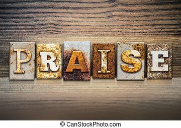 Praise Concept Letterpress Theme