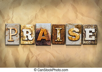 Praise Concept Rusted Metal Type