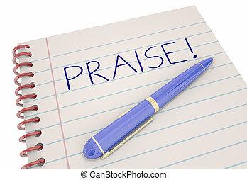Praise Notebook Pen Compliment Recognition 3d Illustration