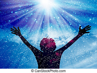 Praise The Lord - Young man worship and praise to god