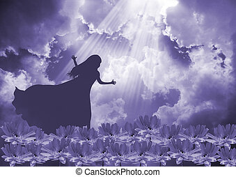 Praise The Lord - Young woman worship and praise the lord