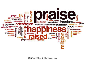 Praise word cloud