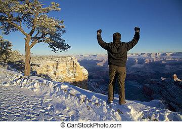 Praising the Grand Canyon Snow