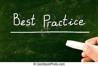praktijk, concept, best