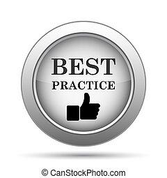 praktyka, najlepszy, ikona