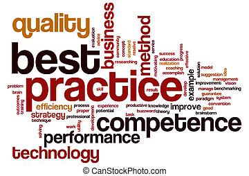 praktyka, słowo, najlepszy, chmura