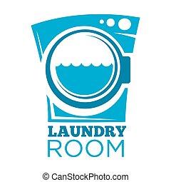 pralnia pokój, znak