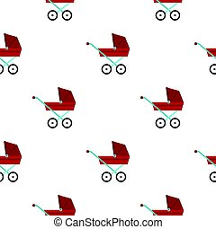 Pram baby carriage pattern flat