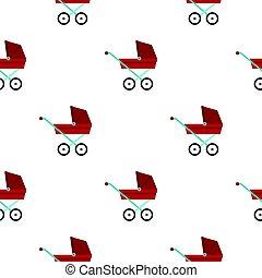 Pram baby carriage pattern flat