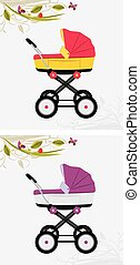 Pram for girl and boy