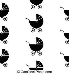 Pram symbol seamless pattern