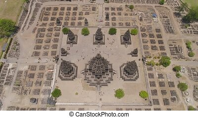 Prambanan temple, Java, Indonesia - aerial view hindu temple...
