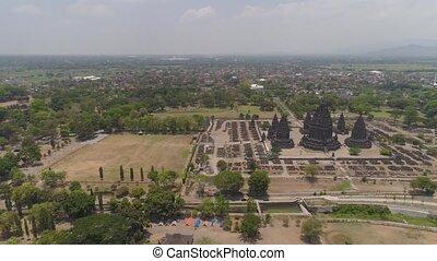 Prambanan temple, Java, Indonesia - aerial view hindu temple...