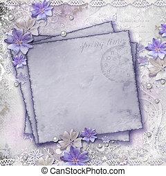 pramen, grafické pozadí, s, květiny