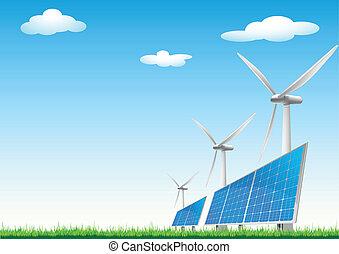 prameny, energie, obnovitelný