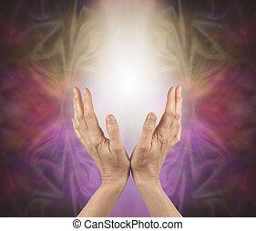 Prana Healing Hands Concept