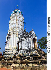 Prang Pagoda of the temple in thailand