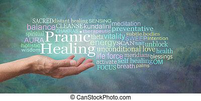 Pranic Healing Word Cloud Banner
