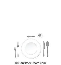 pranzo, accessori, tavola