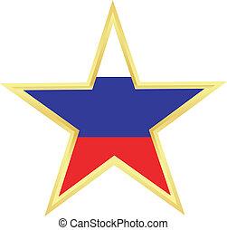 prapor, hvězda, rusko, zlatý
