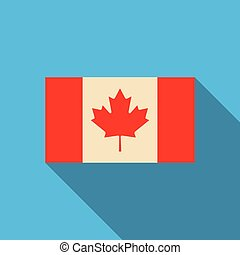 prapor, o, kanada, do, národnostní, úřední, barvy, a, rozměry, s, jeden, javor zub, vektor