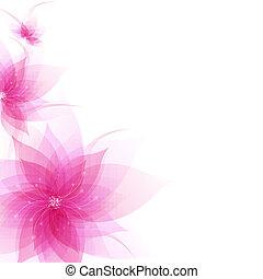 prapor, s, abstraktní, květiny