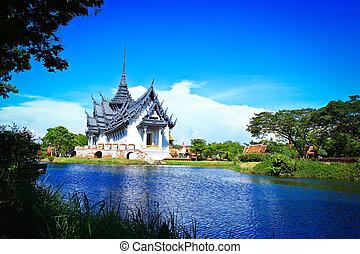 prasat, 宮殿, sanphet, タイ, バンコク