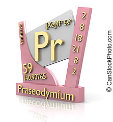 Praseodymium form Periodic Table of Elements - V2