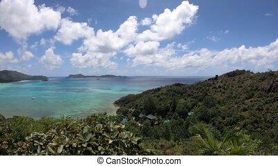 praslin, panorama, seychelles, aérien