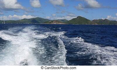 praslin, wyspa, indianin, ocean.