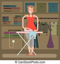 prasowanie, homemaker