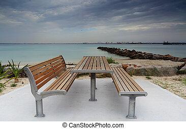 prata, praia, kurnell, austrália