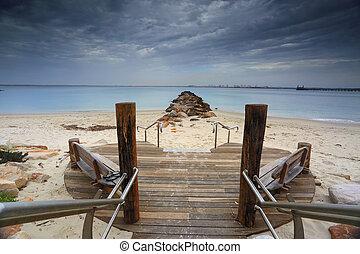 prata, praia, kurnell, sydney, austrália