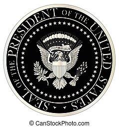 prata, presidencial, selo