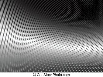 prata, refletivo, superfície
