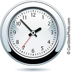 prata, relógio
