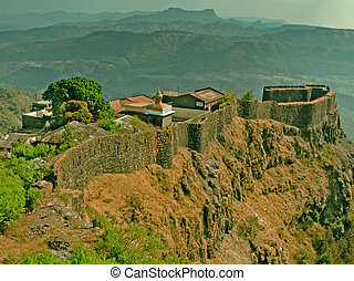 Pratapgad Fort built by Moropant Trimbak Pingle, under the...