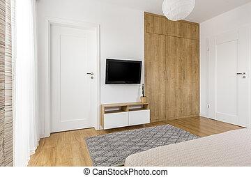 Minimalista camera letto minimalista legno for Letto minimalista