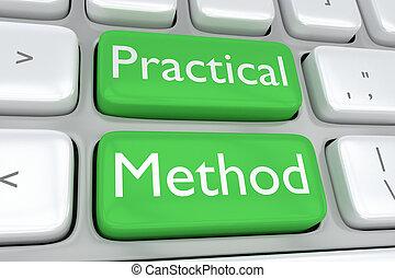 pratique, concept, méthode