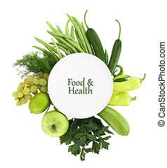 prato, ao redor, alimento, aquilo, verde branco