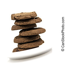 prato, biscoitos, branca,  chocolate