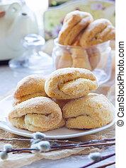 prato, biscoitos