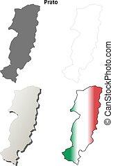 Prato blank detailed outline map set - Prato province blank...