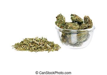 prato, branca, pilha, marijuana, isolado
