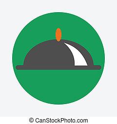 prato coberto, ícone