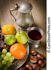 prato, fruta