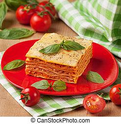 prato, gostoso,  flavorful, lasanha, ingredientes