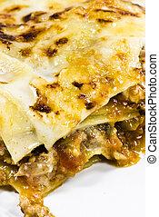prato, lasanha, italiano