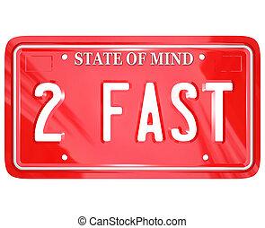 prato, licença, motorista, rapidamente, 2, veloz, palavras, ...