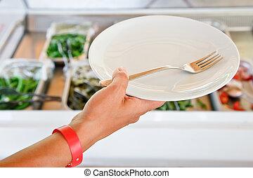 prato, mão